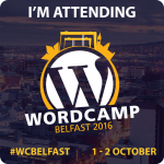 #WCBelfast badge I'm Attending