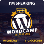#WCBelfast badge I'm Speaking