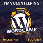 #WCBelfast badge I'm volunteering